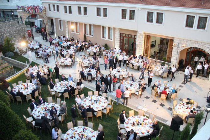 TİKA ve MATÜSİTEB Üsküp'te iftar verdi