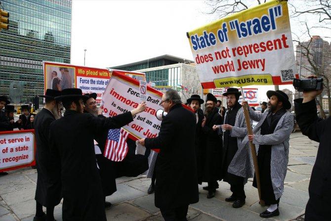 Yahudiler İsrail'e isyan etti