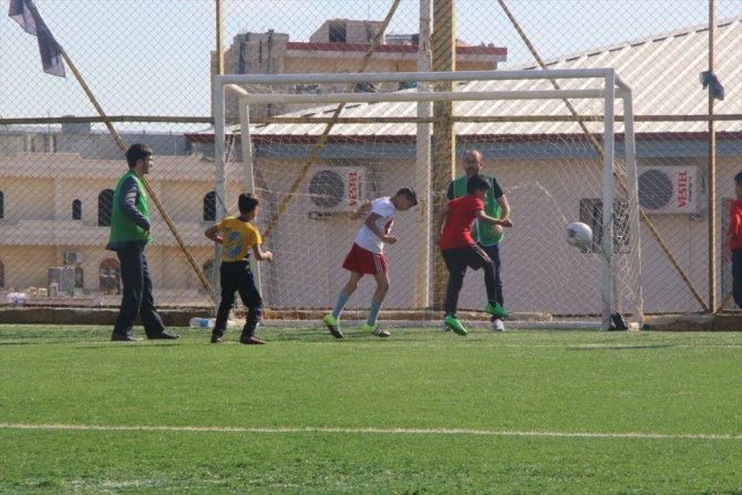 Afrin'de yetimler için futbol etkinliği